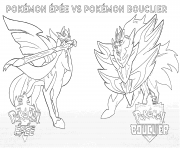 Printable Pokemon Sword vs Pokemon Shield 2019 coloring pages