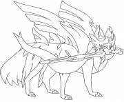 Printable Zacian blade Shining Legendary Pokemon coloring pages