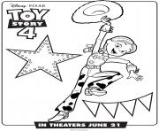 Printable Toy Story 4 Jessie coloring pages
