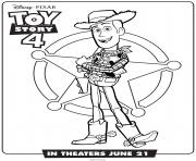 Printable Toy Story 4 Woody coloring pages