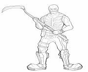 Printable fortnite skeleton skin coloring pages