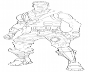 Printable fortnite default skin coloring page male coloring pages