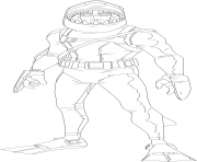 Printable chomp sr fortnite skin hd coloring pages