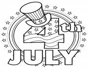 Printable 4th Of July hat stars flag coloring pages