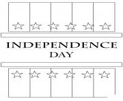 Printable independence day flag america coloring pages