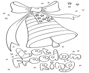 Printable let freedom ring 4th of july independence day coloring pages