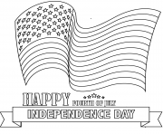 Printable happy fourth of july coloring pages