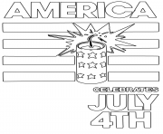 Printable america celebrates july 4th coloring pages