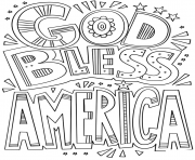 Printable god bless america doodle coloring pages
