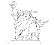 Printable statue of liberty new york usa coloring pages