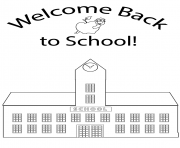 Printable welcome back to school kids coloring pages