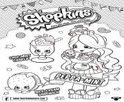 Printable Shopkins Doll Chef Club Peppa Mint 1 coloring pages