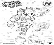 Printable Shopkins Doll Rainbow Kate 1 coloring pages