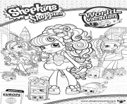 Printable Shopkins Shoppies Cute Vacation coloring pages