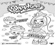 Printable Shopkins Doll Chef Club Jessicake 1 coloring pages