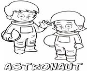 Printable professions astronauts coloring pages