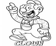 professions clown coloring pages