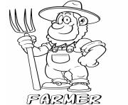 professions farmer coloring pages