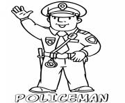 Printable policeman for children coloring pages