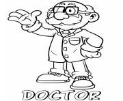 Printable professions doctor coloring pages