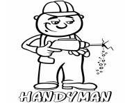 Printable professions handyman coloring pages