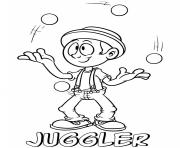 professions juggler coloring pages