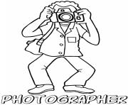 Printable professions s photographer coloring pages