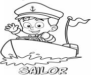 Printable professions sailor coloring pages