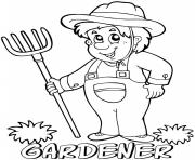 professions gardener coloring pages