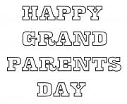 Grandparents Day Doodle Text