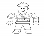 Printable roblox i love cats coloring pages