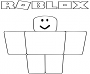 Printable Noob from Roblox coloring pages