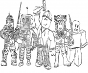 Printable roblox spot harperCollins coloring pages