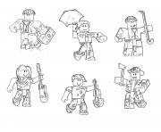 Printable roblox characters coloring pages