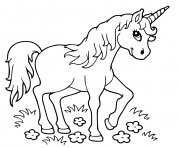 Printable unicorn mythical beast coloring pages