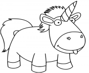 Printable funny unicorn kids coloring pages