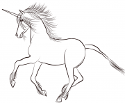 Printable lovely unicorn coloring pages