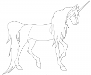 Printable young unicorn coloring pages
