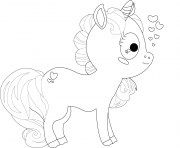 Printable cartoon unicorn cute kids coloring pages