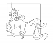 Printable cute unicorn 3 coloring pages