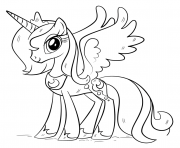 Printable Princess My Little Pony Pegasus Unicorn coloring pages