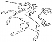 Printable rearing unicorn 1 coloring pages