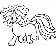 Printable cartoon unicorn coloring pages