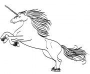 Printable mythical animal unicorn coloring pages