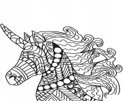 Printable unicorn zentangle 27 coloring pages