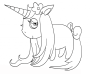 Printable chibi unicorn coloring pages