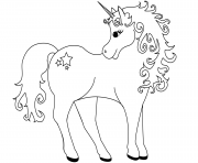 Printable gracious unicorn coloring pages