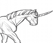 Printable realistic real unicorn coloring pages