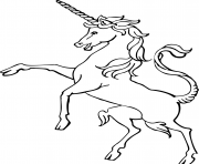 Printable vintage unicorn coloring pages