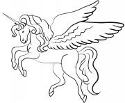 Printable winged unicorn coloring pages